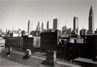 rooftop view of new york skyline by ilse bing
