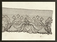 lace fragment by william henry fox talbot