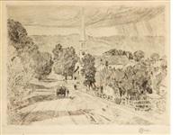 a vermont village (at peacham) by childe hassam