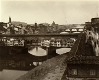 view of ponte vecchio, florence by fratelli alinari