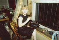 april in the window, new york city; lynelle in japanese restaurant, n (3 works) by nan goldin