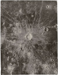 tycho crater on the moon by george willis richey