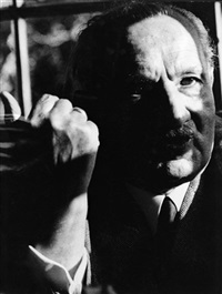 the philosopher martin heidegger (1889 - 1976) from the spiegel interview with rudolf augstein (2 works) by digne meller-marcovicz