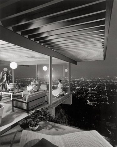 case study, house # 22, designed by pierre koenig, los angeles, california by julius shulman