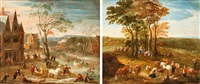 sommer und winter by jan-peter van bredael the younger