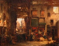 orientalische marktgasse by charles edouard frère