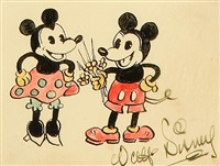 minnie and mickey mouse by walt disney