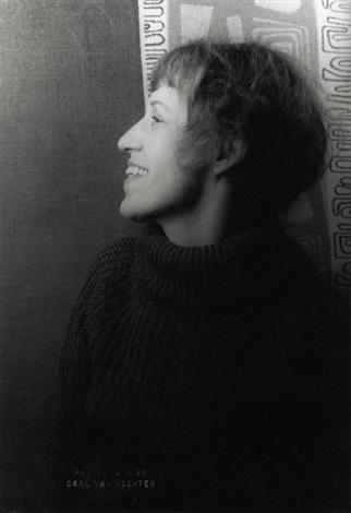 portrait of lotte lenya by carl van vechten