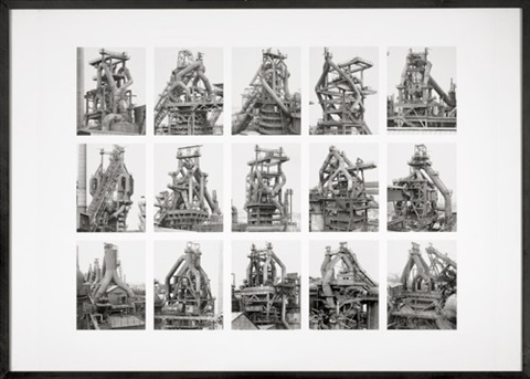 hochöfen blast furnaces image v from the typologies series by bernd and hilla becher