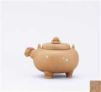 teapot of globular shape by bao zhongmei and shi xiuchun