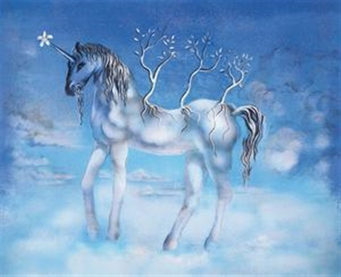 独角马 unicorn by salvador dalí
