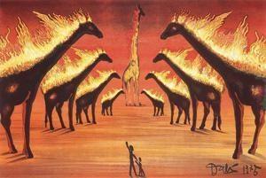 长颈鹿(阿维尼翁的长颈鹿) (giraffe) by salvador dalí