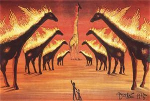 长颈鹿(阿维尼翁的长颈鹿) giraffe by salvador dalí