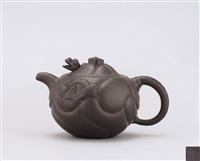 teapot with decoration of fish metamorphosing into dragon by wu yungen
