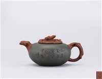 teapot of persimmon shape by shi xiu and wu yungen