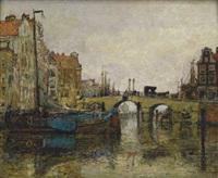 holländische gracht, wohl in rotterdam by hans herrmann