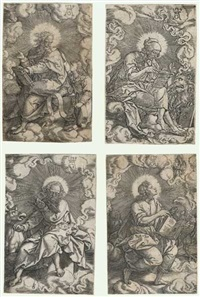 die vier evangelisten (set of 4) by heinrich aldegrever