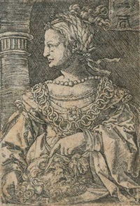 judith mit dem haupt des holofernes by heinrich aldegrever