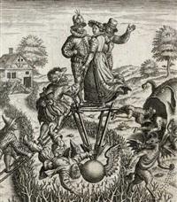 14 bl. mit emblematischen darstellungen (14 works after p. brueghel) by johann theodor de bry
