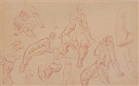 multi sketches by lorser feitelson