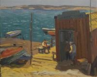 san diego docks, pt. loma by john christopher smith