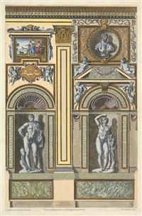 wanddekorationen aus dem palazzo farnese. 4 (from galeriae farnesianae icones romae) by petrus aquila