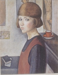 portrait of a girl by lorser feitelson