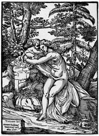 venus und amor in einer landschaft (after tizian) by niccolo boldrini
