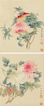 花果 (两帧) (2 works) by tang shishu