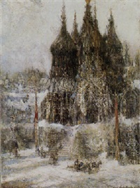 towers of saint basil, moscow by george wharton edwards