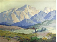 sunlight and shadows in a mountain landscape by carl sammons