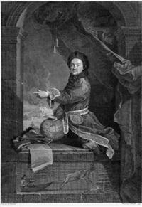 bildnis des pierre-louis moreau de maupertius by jean daulle