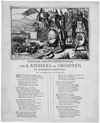 nieuw liedt, van de drie-dubbelde kruysvaert/ van de ridders en grooten / uyt uythangborden gesprooten by romeyn de hooghe
