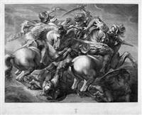 der kampf der vier reiter (die schlacht von anghiari) (after leonardo da vinci) by gérard edelinck
