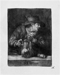 die fünf sinne (de reuk, de smaek, t'ge sight, t'gehoor, t'gevoel) (set of 5) by pieter pickaert
