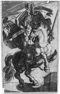 antiker krieger zu pferd by giovanni battista ghisi