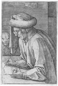 die vier evangelisten (4 works) by lucas van leyden