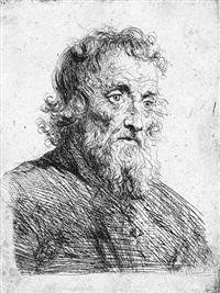 brustbildnis eines alten mannes nach rechts by salomon koninck
