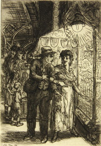 jewelry store window carlottas indecision by john french sloan