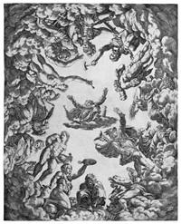 jupiter, von den göttern umgeben (after primaticcio) by pierre milan