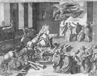 tabula asinaria: eine eselshorde verwüstet die werkstatt eines gelehrten by isaak duchemin