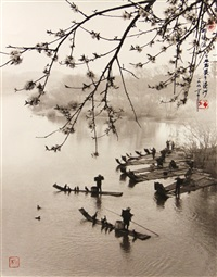 array of bamboo boats, wenzhou by don hong-oai