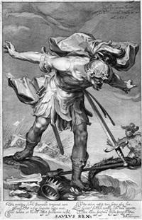 paulus (+ 3 others; 4 works after abraham bloemaert) by willem isaaksz swanenburgh the elder