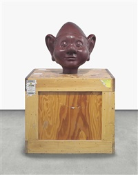 dwarf head (brown) (in 2 parts) by paul mccarthy