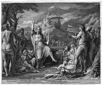 orpheus (orpheus instructing a savage people in theology & arts of social life) by james barry