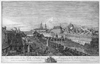 vue exterieure de la porte d'italie des rampars de la ville de dresden by bernardo bellotto