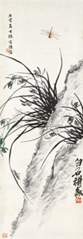 兰石草虫图 by xu zonghao and qi baishi