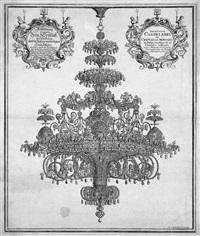 abbildung eines aus bergkristall geschliffenen und in italien verfertigten leuchters by johann georg puschner