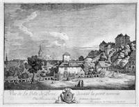 vue de la pirne devant la porte nommée/oberthor; avec la forteresse de sonnenstein by bernardo bellotto
