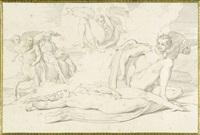 das leben einer hexe (portfolio of 10 w/title by h. merz & c. gonzenbach) by bonaventura genelli